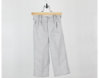 Boys pants - Gray light oxford cotton blend pants  -  Other colors available