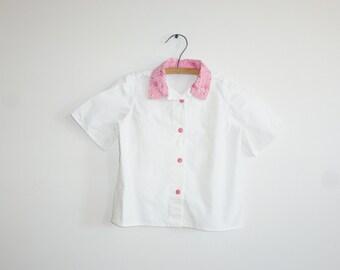 Vintage White Rockabilly Shirt