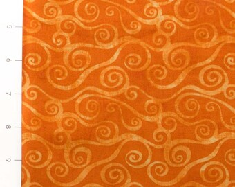 CLOSEOUT! Swirly Scroll Orange by Wilmington