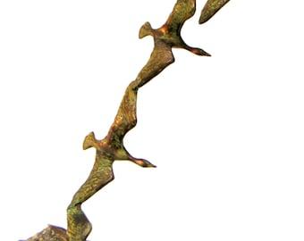 Vintage Copper Sculpture by Bijan. Metal Sculpture,Ducks,Home Decor,Mid Century,Retro,Father's Day, Wedding Gift,Housewarming Gift