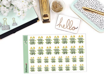 BEER TIME Paper Planner Stickers