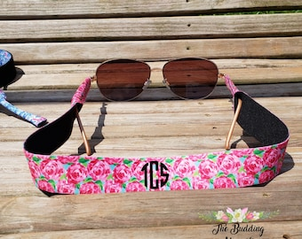Lilly inspired sunglass strap, personalized sunglass strap, monogrammed sunglass strap, sunglass strap, sunglasses strap, lilly sunglasses