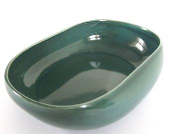 Russell Wright Seafoam Vegetable Bowl, Vintage Steubenville Serving Bowl
