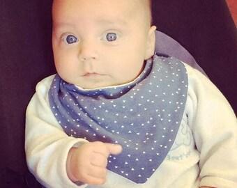 0-6 months blue bandana bib
