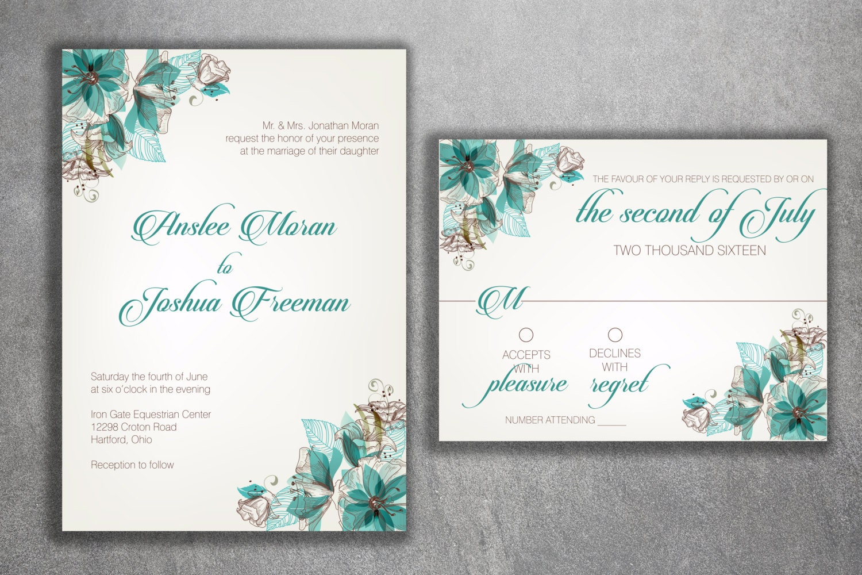 Floral Wedding Invitations, Wedding Invitation, Flowers Vintage ...