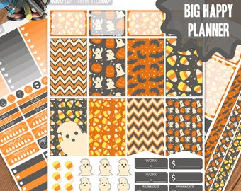 Halloween Planner Stickers Printable, Big Happy Planner Stickers, Weekly Planner Kit, Planner Stickers,Big MAMBI Planner Stickers,Big HP Kit