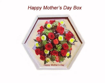 "Keepsak ""Bouquet of Red Roses"" Wood Box"