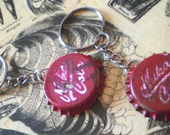 Nuka cola bottle cap keyring