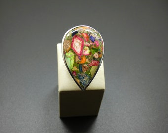 Sea Sediment Jasper  925 Sterling  Silver Ring