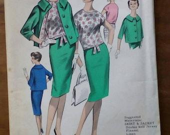 "1960s 3 Piece Suit - 36"" Bust - Maudella 5094 - Vintage Retro Sewing Pattern"