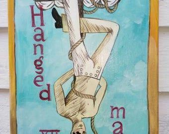 Hanged Man,  Dame Darcy Mermaid tarot,  painting
