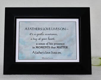 Sympathy Gift, Loss of Father, Memorial Gift, In Loving Memory, Condolence Gift, Loss of Loved One, In Memory of Father, my original framed