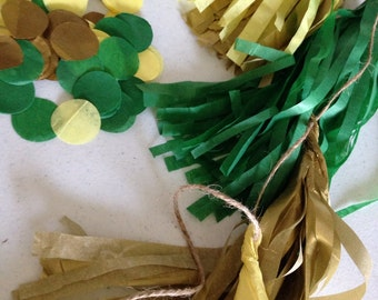 Tassle Garland & confetti combo - your colors choices