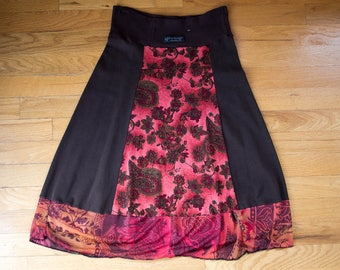 XS Brown Women's Up-cycled Skirt