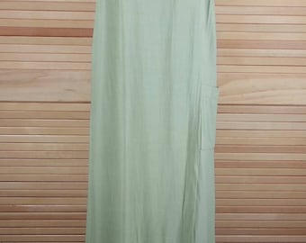 Vintage 70s green rayon jumper dress Saint Tropez West Size 12 chest 40