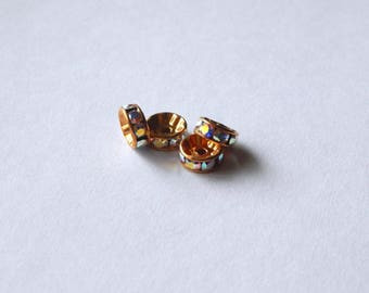 Swarovski™  Elements Gold Crystal Rondelles
