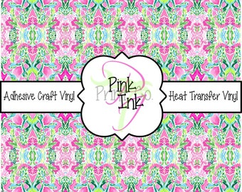 Printed Vinyl, Patterned Craft Vinyl and Heat Transfer Vinyl in pattern 1048