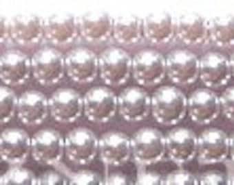 3mm Elegant Pale Lilac Glass Pearls 50 pcs