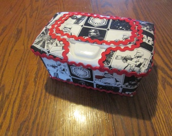 star wars handcrafted baby wipes case