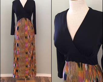 70s Space Dyed Maxi Dress