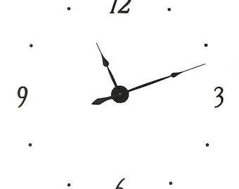 """KIT40 Extra Large Wall clock KIT makes 40 inch wall clock  with 4"""" metal numbers (12, 3, 6, 9)"""