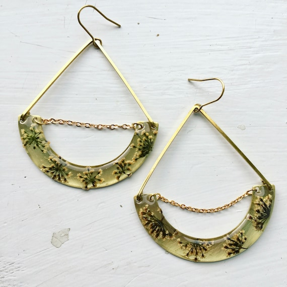 Queen annes lace statement earrings