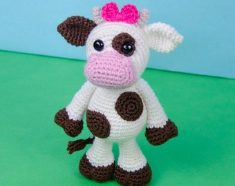 Doris the Cow Amigurumi - PDF Crochet Pattern - Instant Download - Amigurumi crochet Cuddy Stuff Plush
