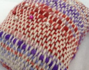 Handwoven pincushion