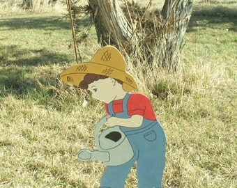Boy with Watering Can
