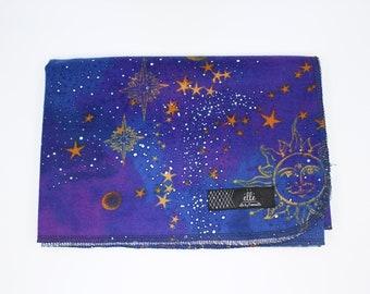 "Astrology Galaxy Stars Sun Moon Extra Large Receiving Blanket - 36"" x 42"""