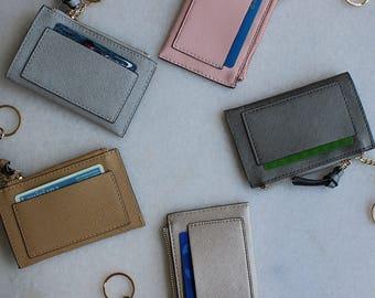 Slim card case Keychain