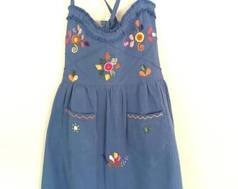 Size 4 hand crochet cotton dress