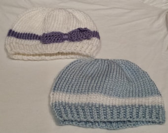 Newborn Baby Hats, Girls or Boys