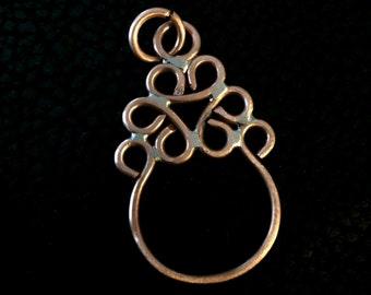 Eyeglass holder, flower charm,  badge holder, eyeglass pendant, reading glasses holder, badge pendant, charm keeper,  jewelry finding
