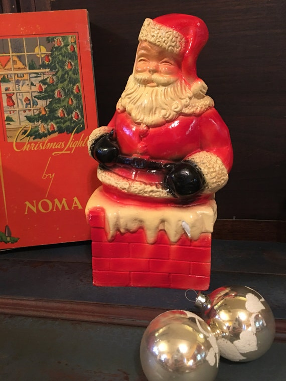 Santa down the Chimney Chalk Bank 10.5 inches