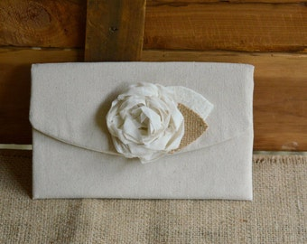 Rustic Wedding Clutch Burlap Bridesmaid Clutch Wedding Purse Bridesmaid Gift Rustic Wedding Handemade Gift Idea for Her Under 25