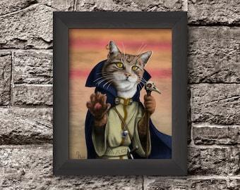 Fantasy Cat Hero - Sorcerer Cat