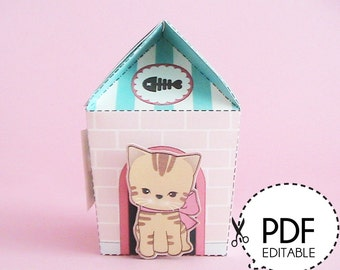 Kitty House Gift Box – Printable PDF Download