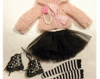 Blythe outfit set 4 pieces/Azone body and 1/6 bjd dolls