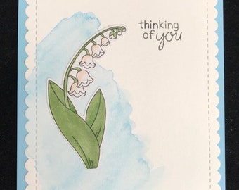 Thinking of You Lily of the Valley Greeting Card