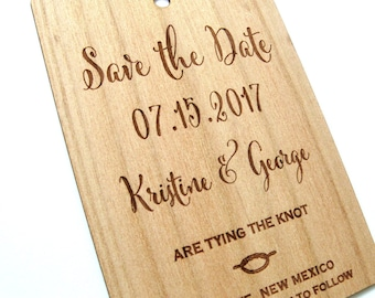Save the Date, Rustic Save the Date, Tie the knot Invitation, Rustic Tying the knot save the date, Wooden Save the Date, Tie the knot card