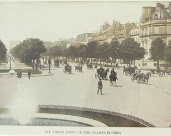 1905 Paris Champs-Elysees Matted Antique Stoddard Print
