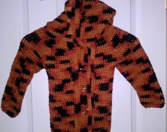 Crocheted Infant Fox Sweater