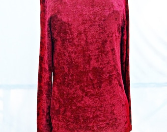 CHICO'S RED EXTRA Soft casual Long,pull over Shirt,light sweater size 2