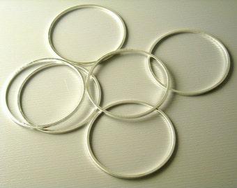 LINK-S-CIR-25 - Silver Plated Circle Connectors - 10 pcs