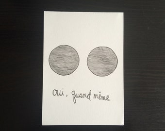 Quand Même // Minimalist Line Drawing Illustration