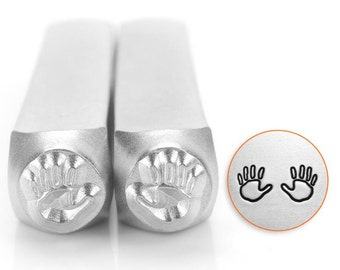 Hand Outline Both Hands  2 Pack Metal Design Stamp ImpressArt- 6mm  Design Stamp-Steel Stamps