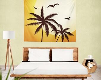 Palm Trees Wall Tapestry , wall tapestry , tapestry , wall hanging , palm trees , palm tree , palm tree tapestry , wall art , wall decor