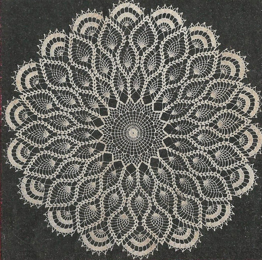 Aunt Ellens Favorite Doily Crochet PATTERN from a 1956 Workbasket a ...