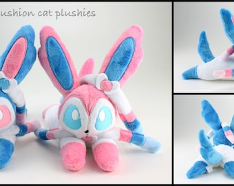 Sylveon beanie style plush - made to order
